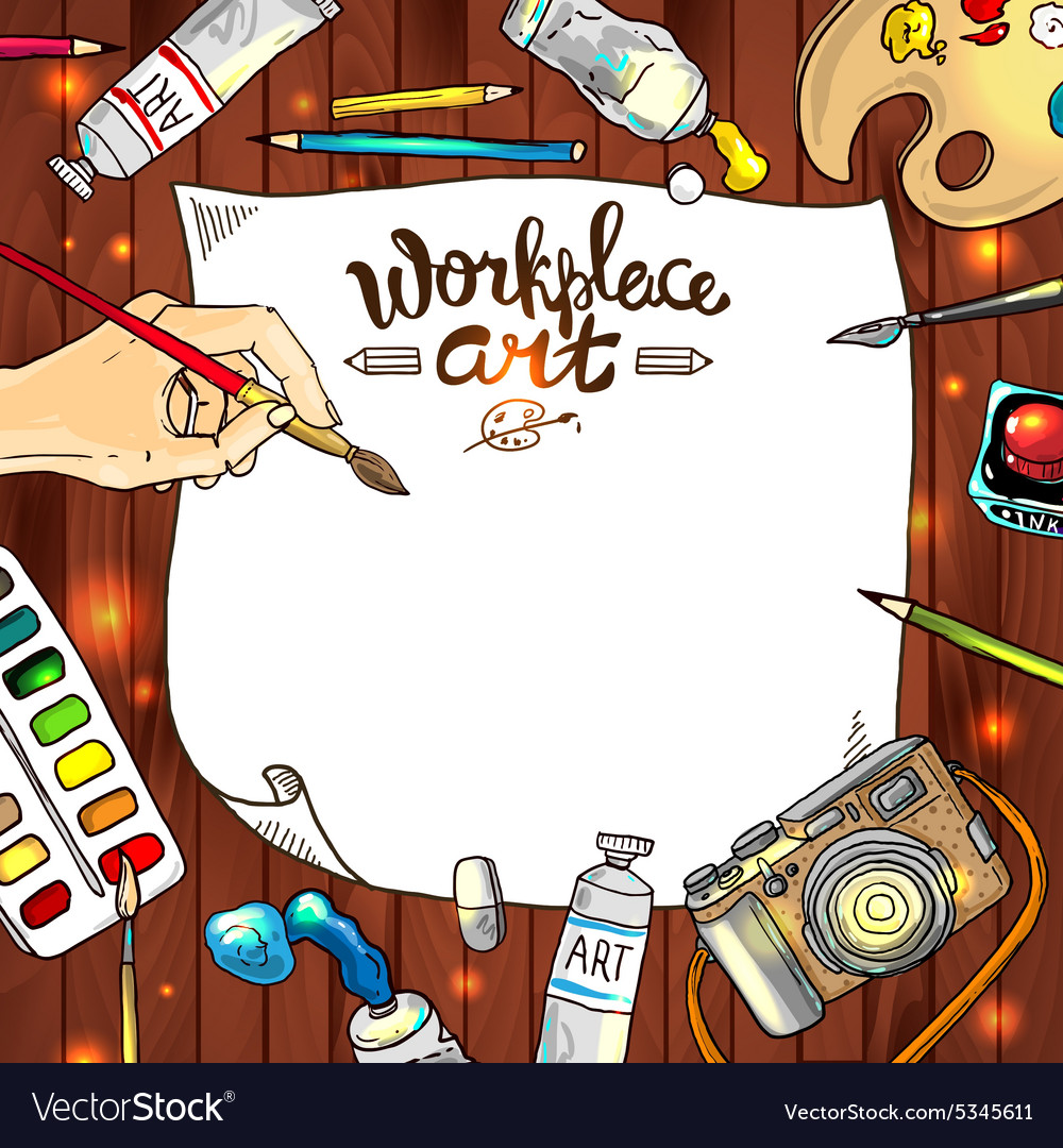 Workplace art vector