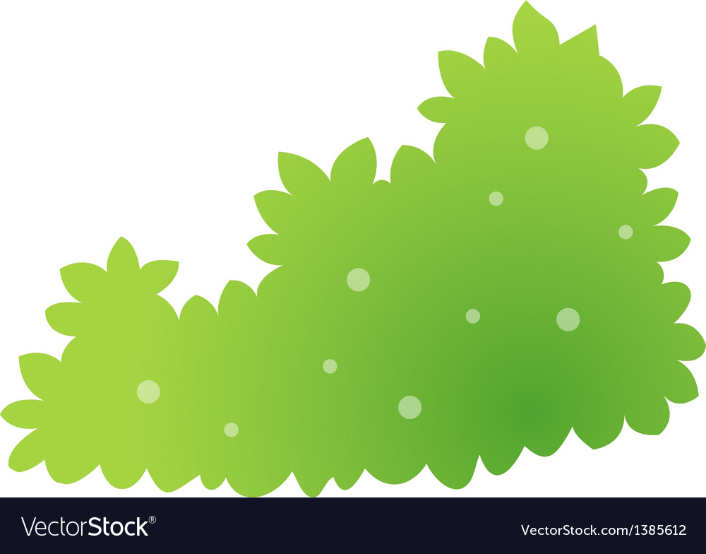 Icon bush vector