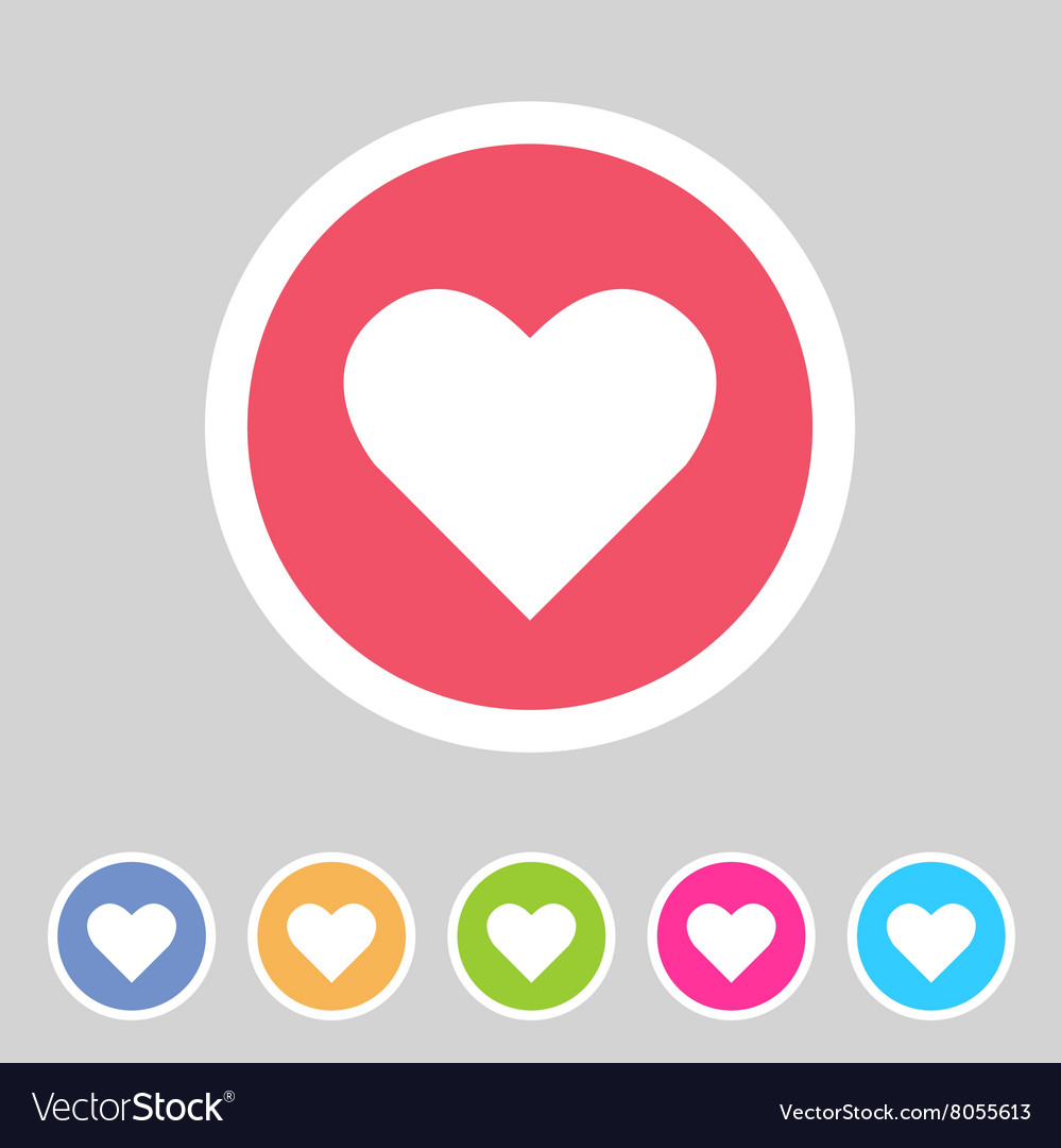 Heart love icon flat web sign symbol logo label vector