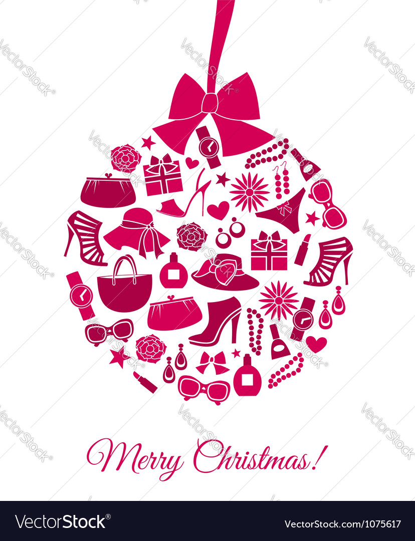 Fashion christmas ball vector