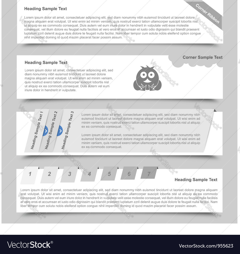 Web banners and sliders vector