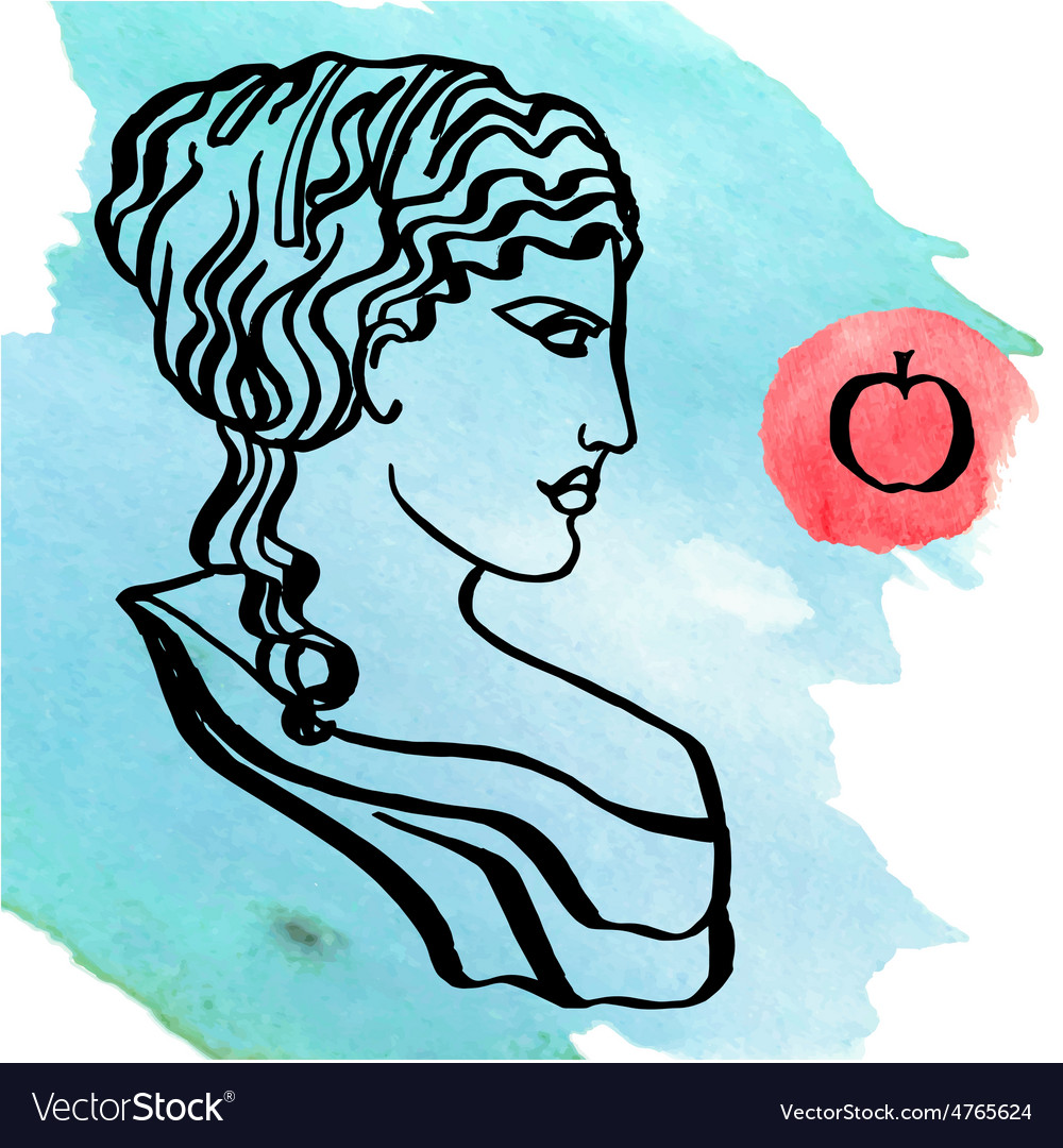 Ancient greek goddess vector