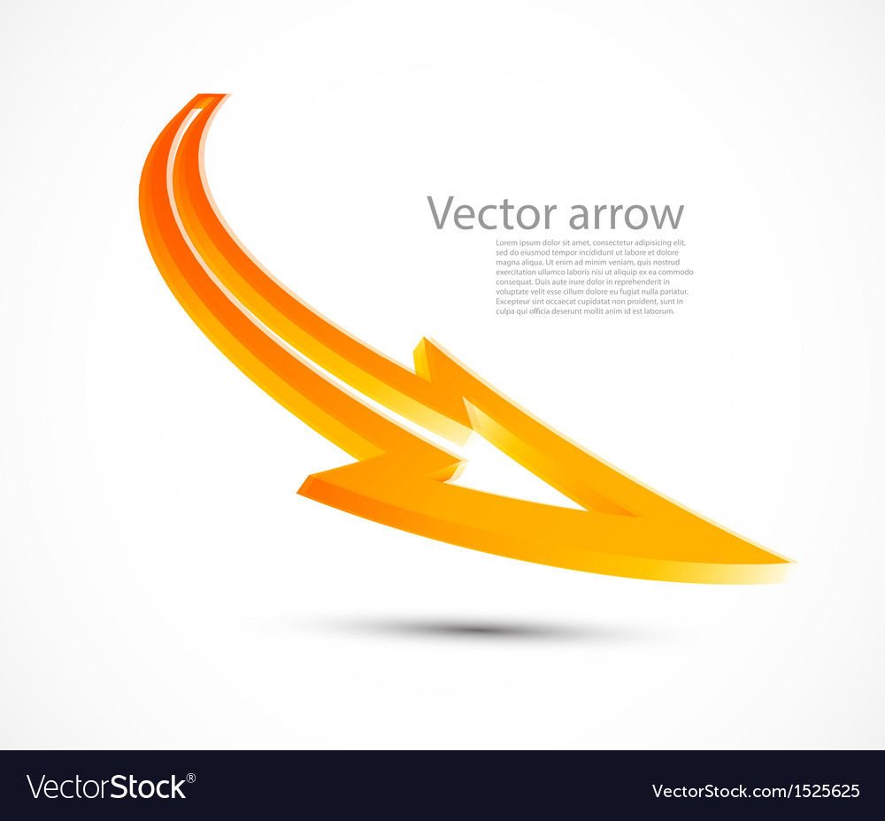 Orange arrow vector