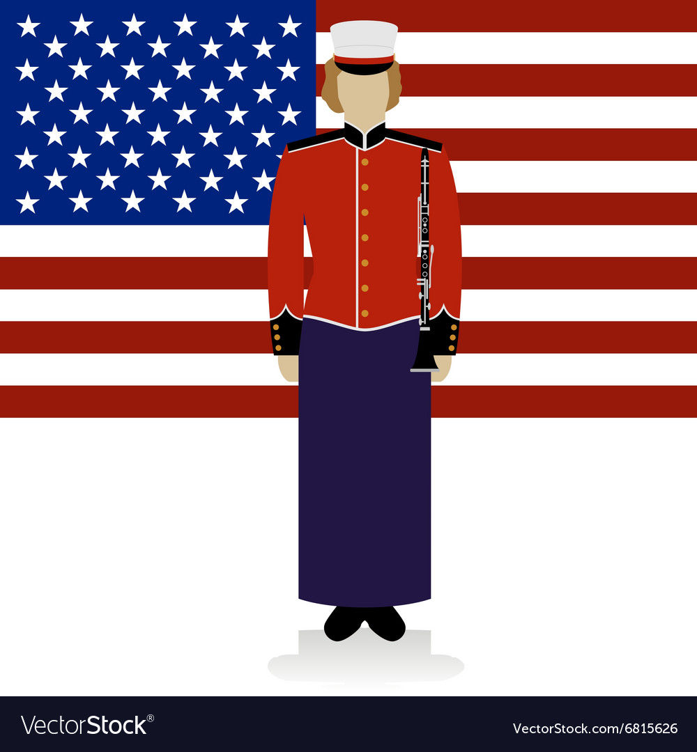 Us military band musician2 vector