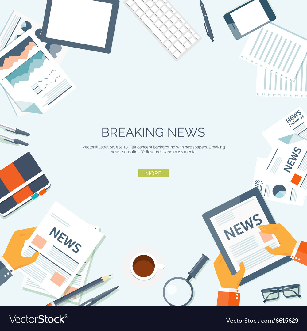 Flat header newsletter vector