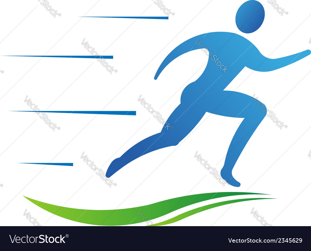 Man running fast abstract concept of fast activit vector