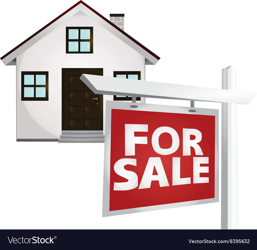 For sale home vector