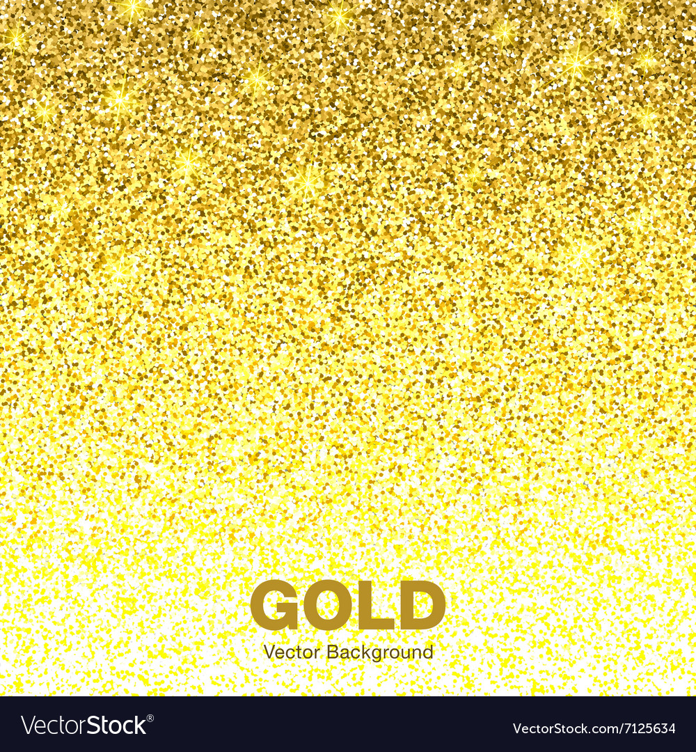 Golden bright glowing gradient background vector