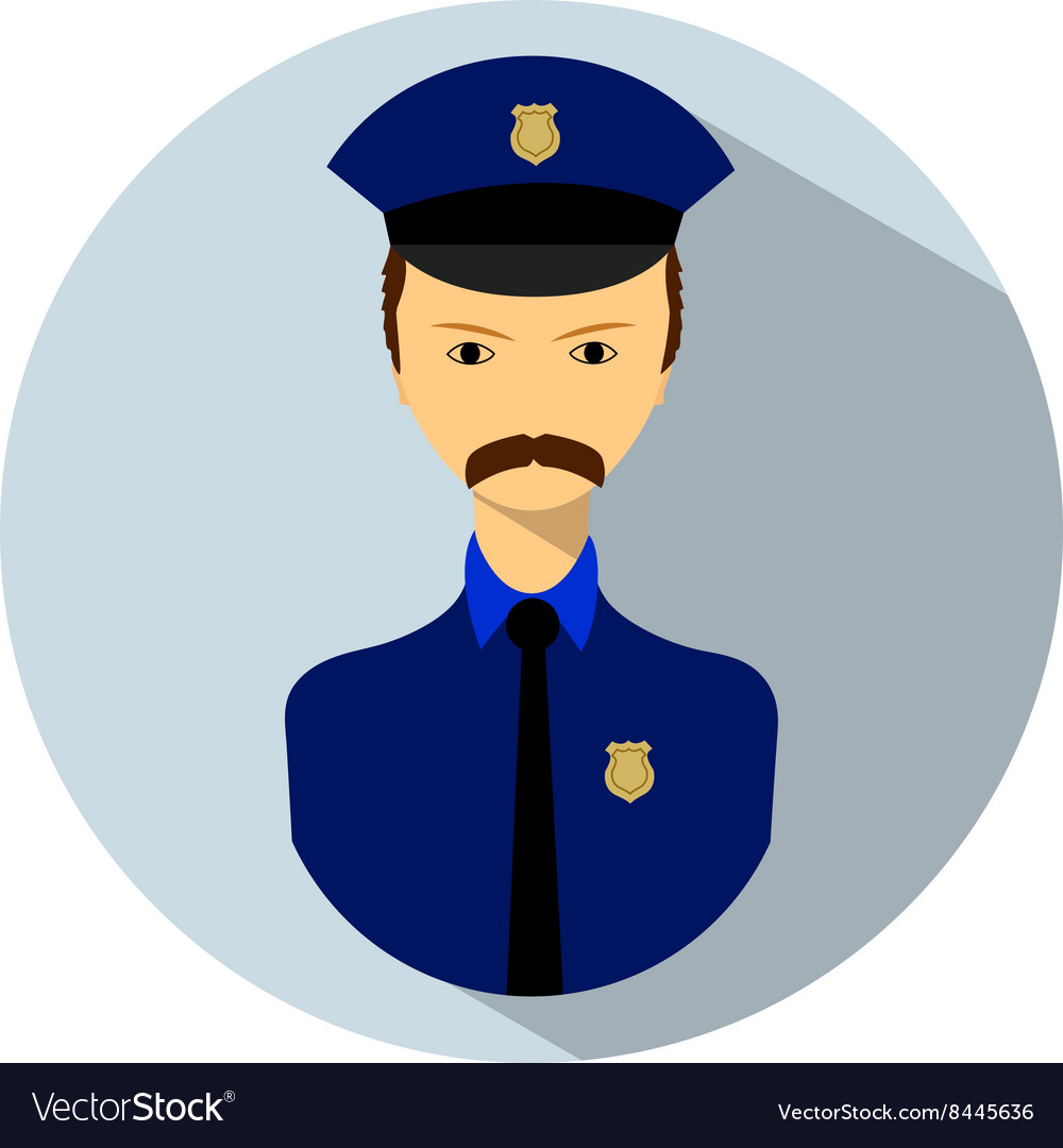 Icon of policemen vector