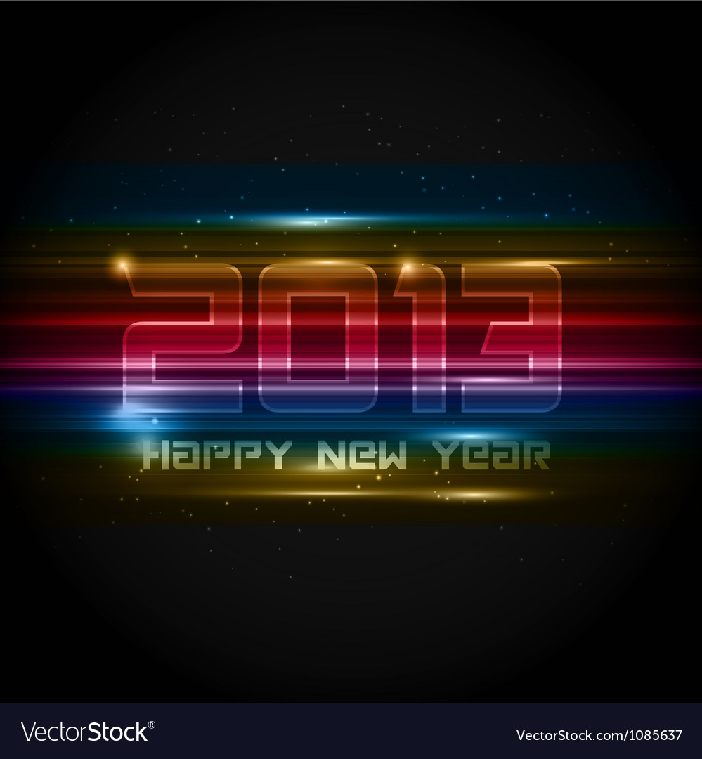 Futuristic new year background vector