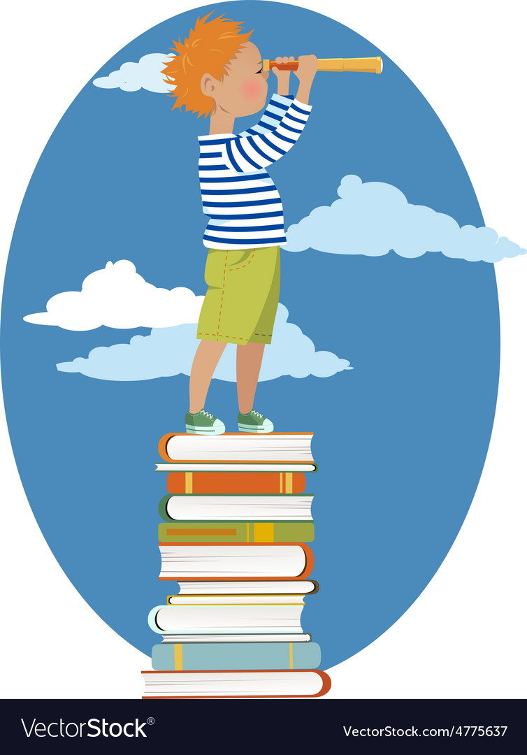 Young reader vector