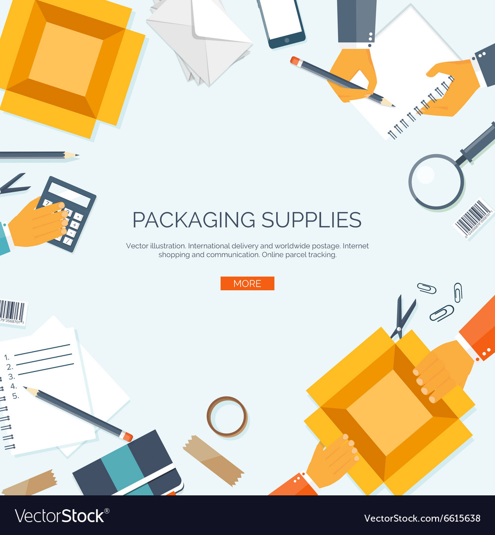 Packaging supplies delivery vector