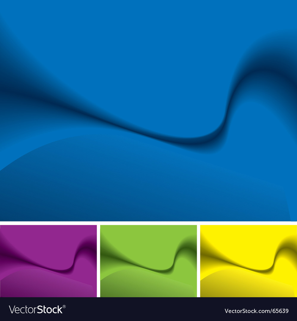 Smooth wave background vector