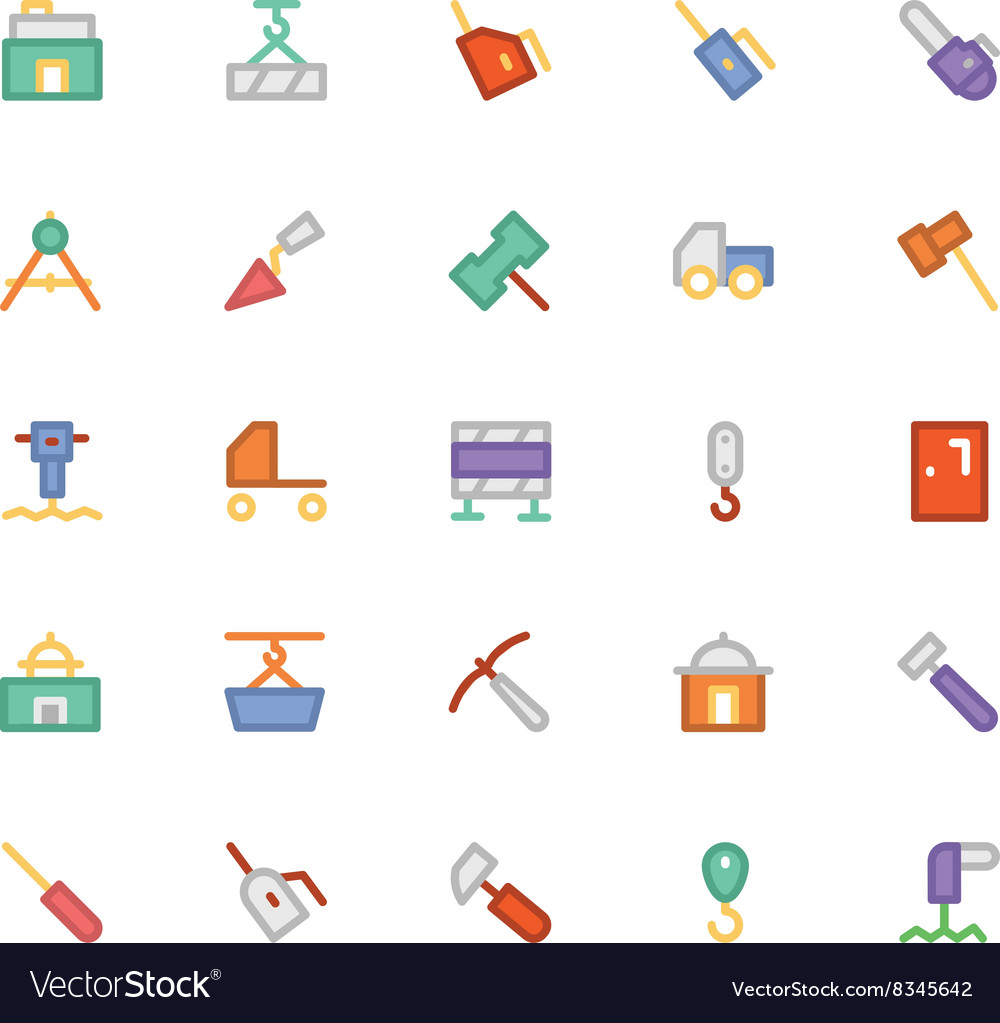Construction icons 7 vector
