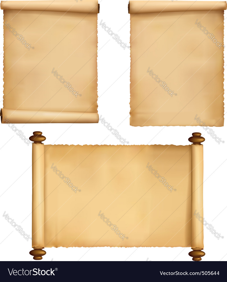 Set of old paper sheets vecto vector