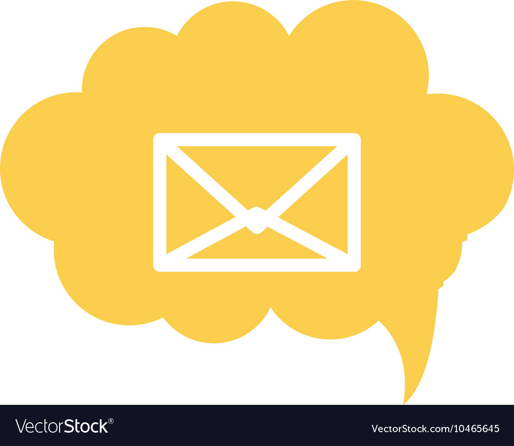 Envelope within conversation cloud icon vector