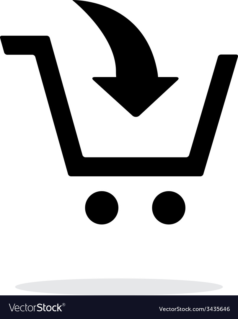 Add to shopping cart simple icon on white vector