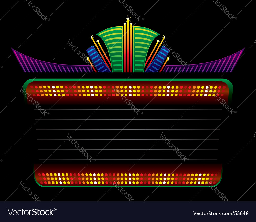 Classic colorful neon vector
