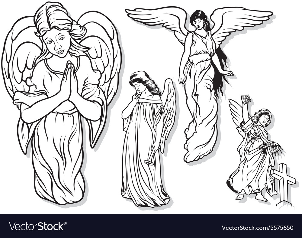 Angel set vector