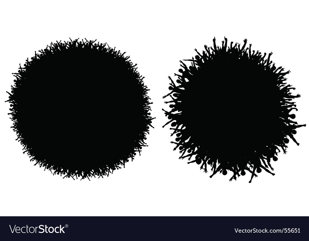 Circular crowds vector