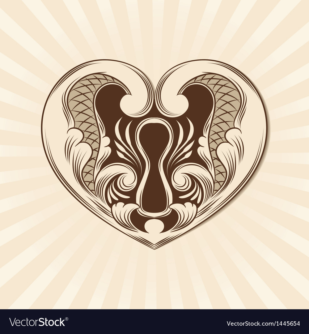 Love ornamental vector