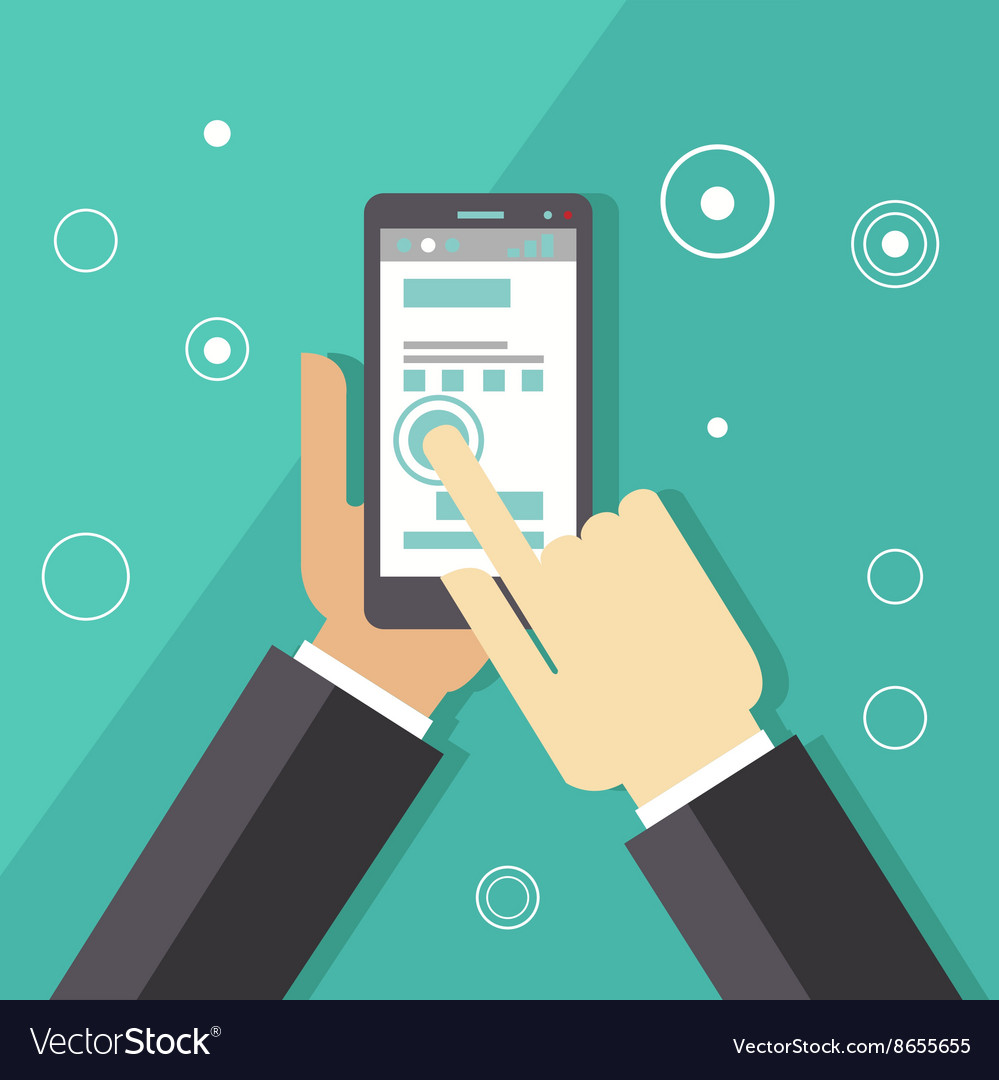 Business smartphone applications vector