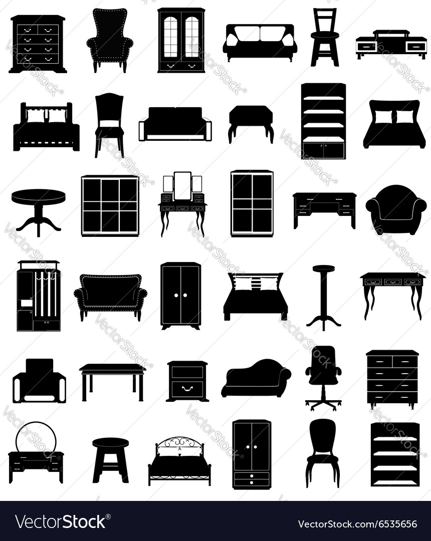 Set icons furniture 06 vector