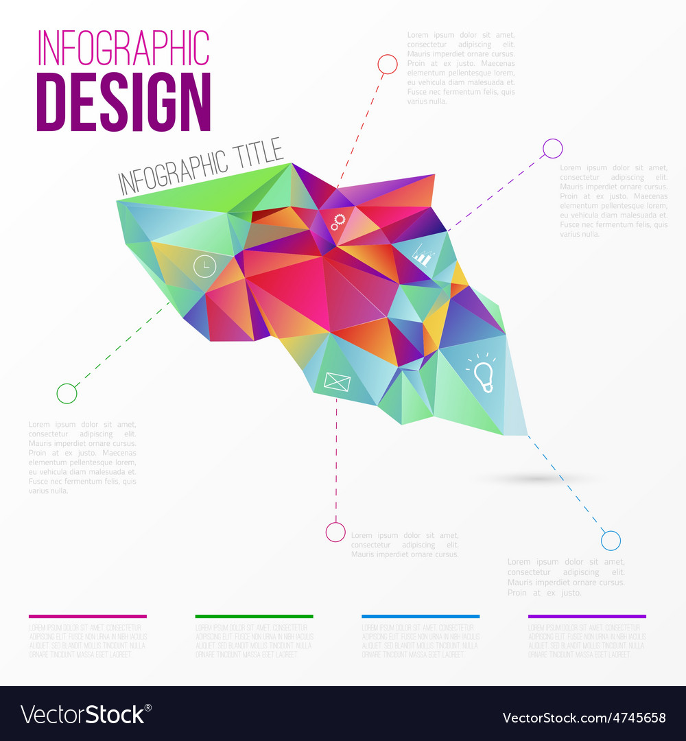 Infographic with colorful abstract 3d vector