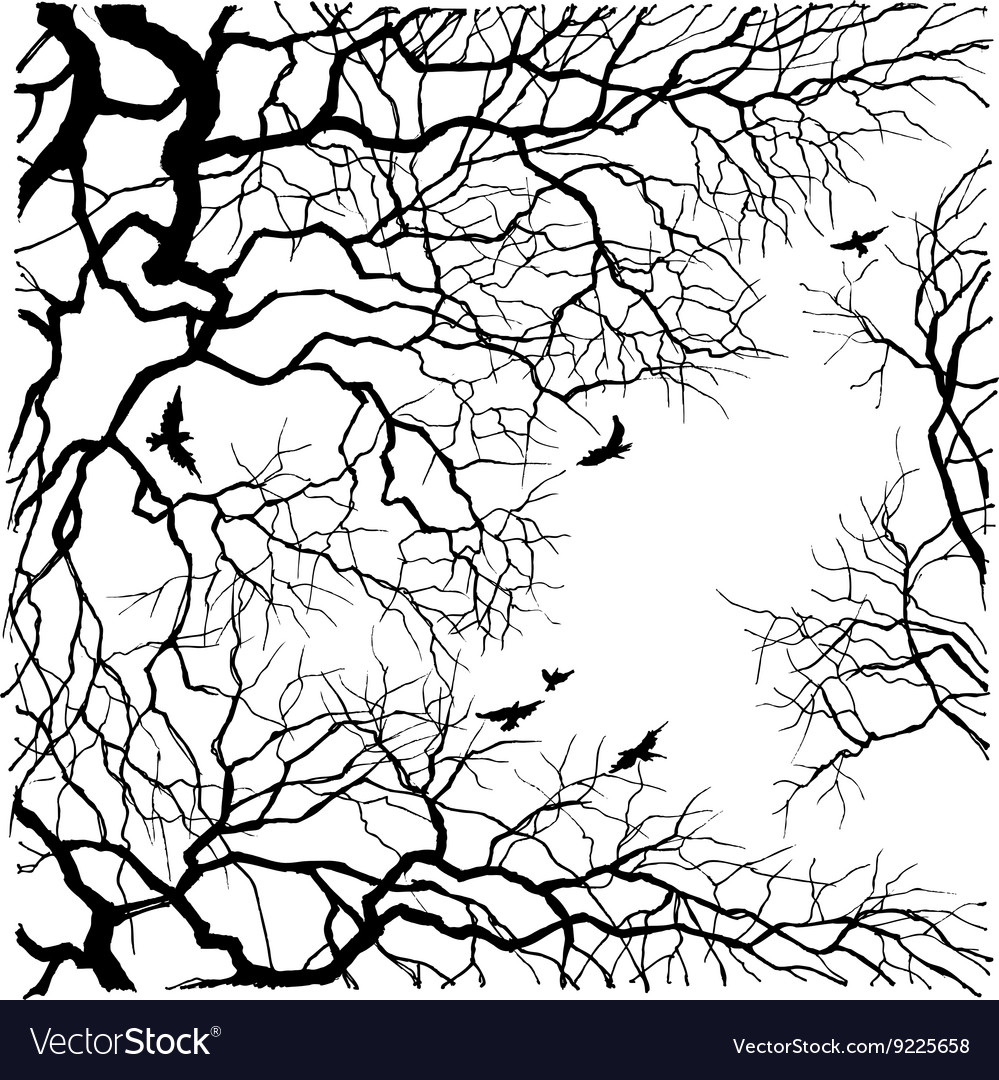 Under the tree sky view vector