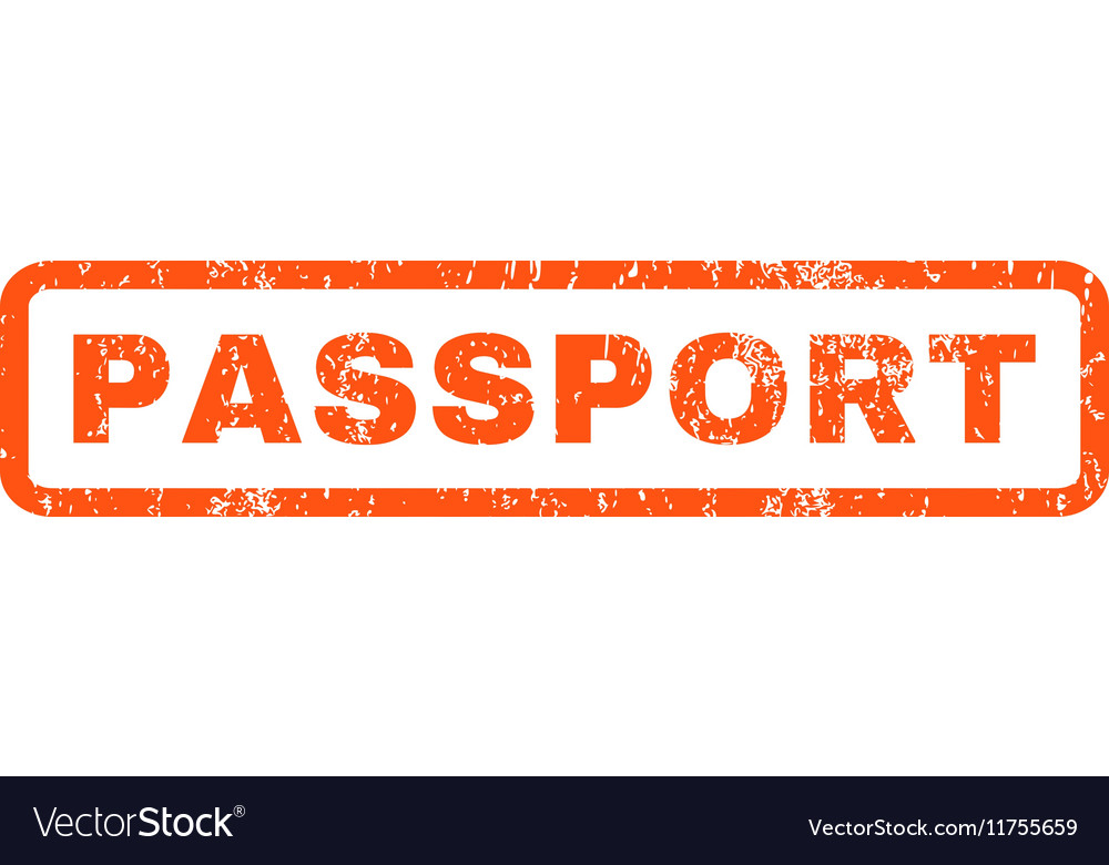 Passport rubber stamp vector