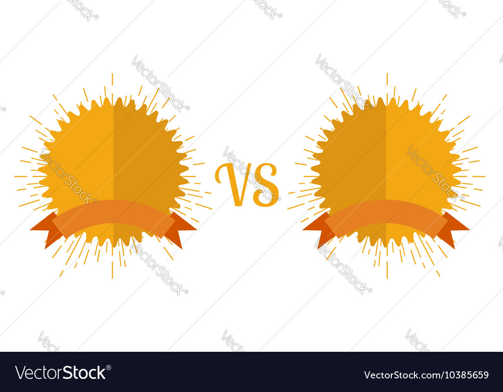 Versus screen flat style vector