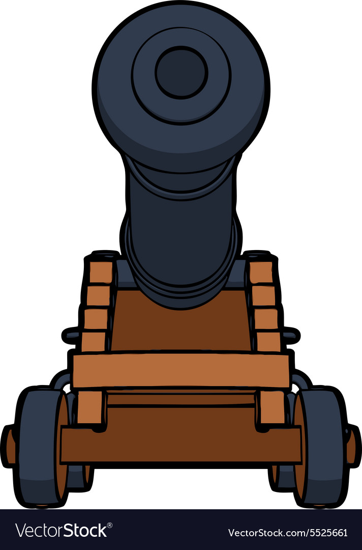 Naval cannon view bottom vector
