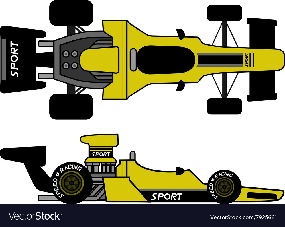 Retro formula car vector