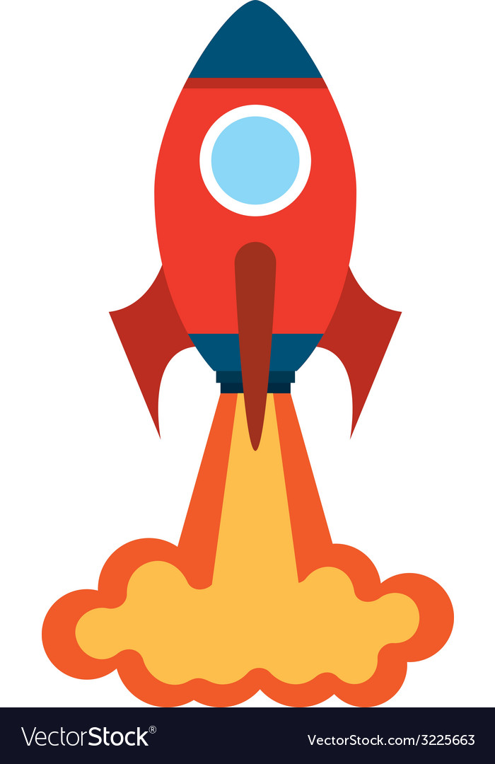 Rocket design vector