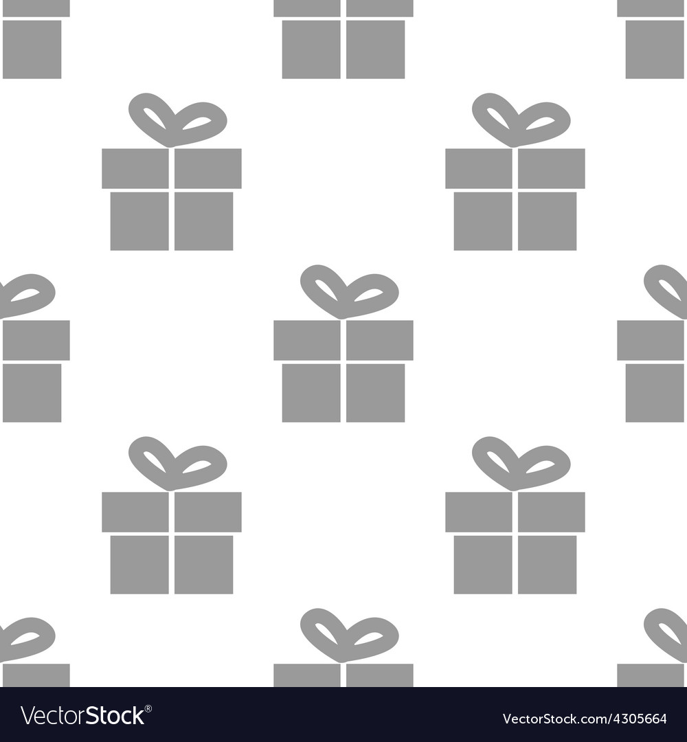 New gift seamless pattern vector