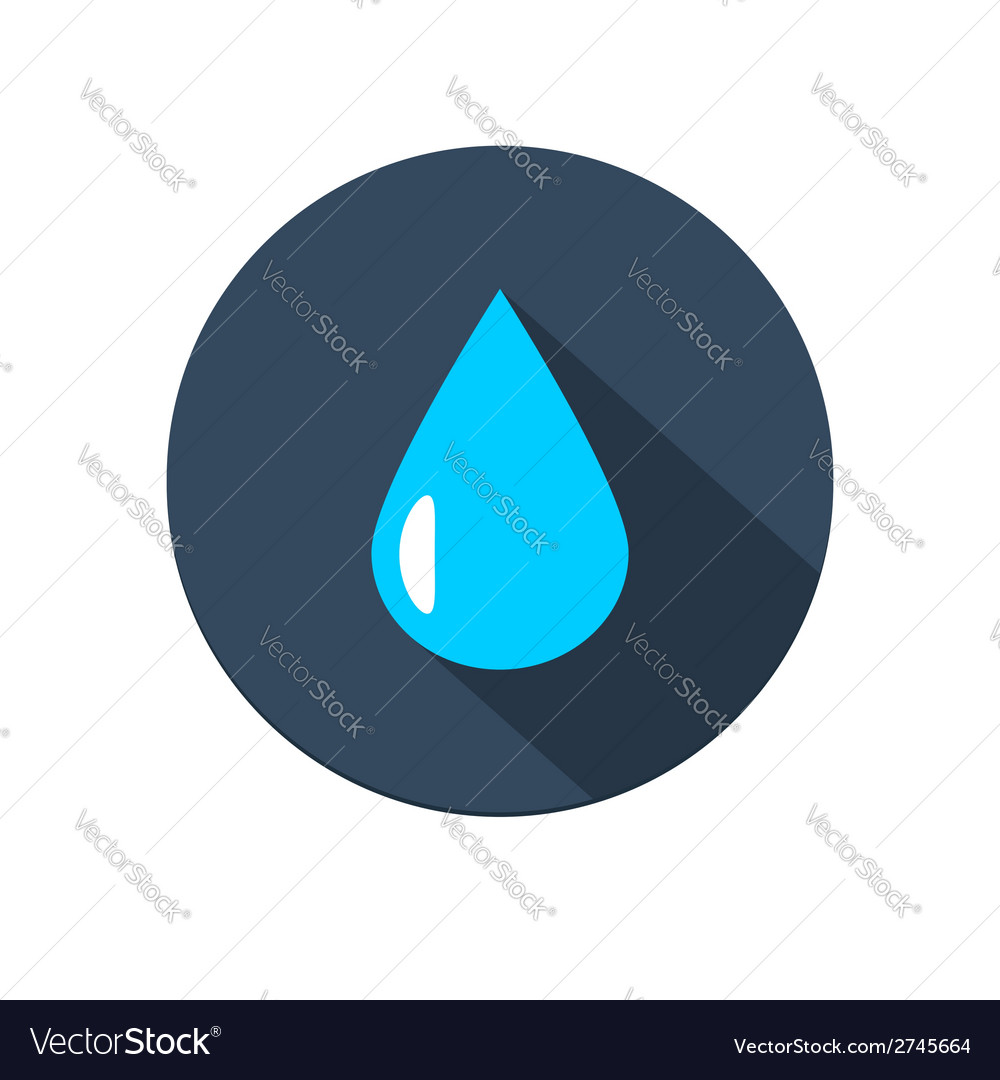 Raindrop icon vector