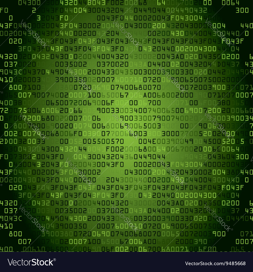 Green security background with hexcode vector