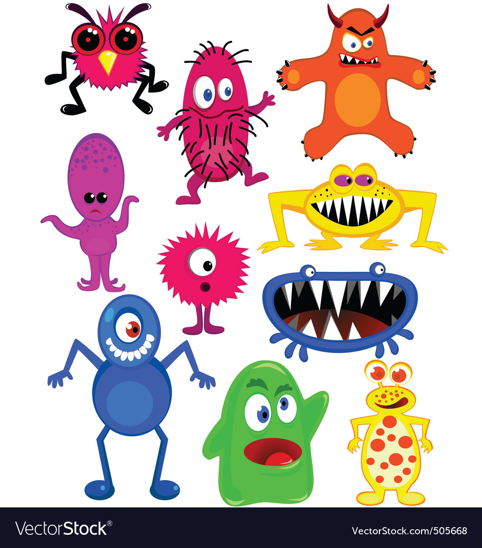 Monster collection vector