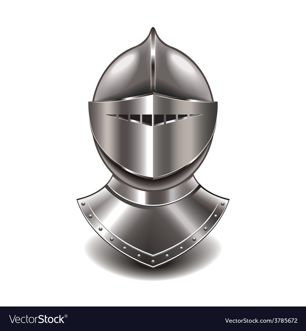 Knight helmet isolated vector