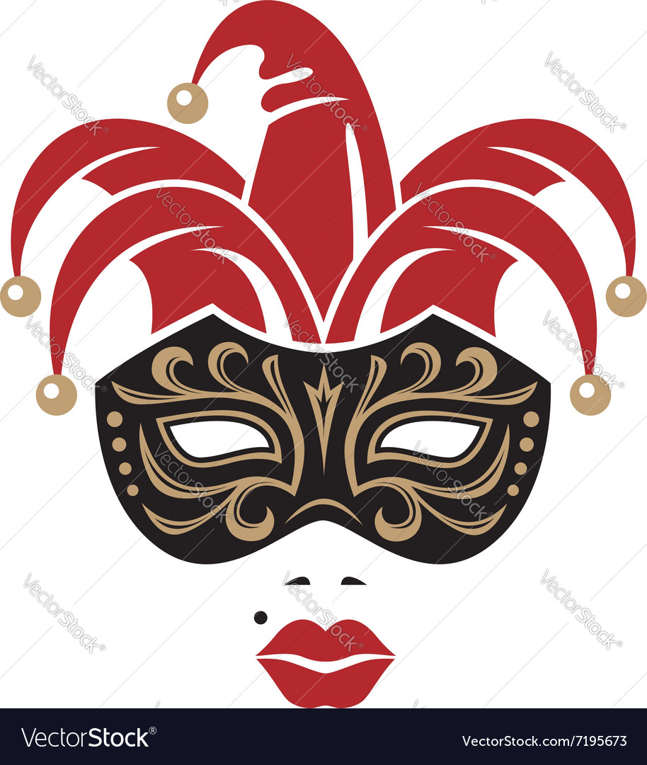 Carnival mask image vector
