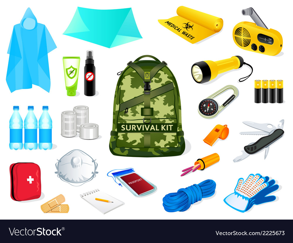 Survival kit vector