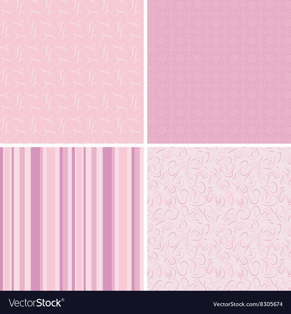 Seamless pink patterns vector