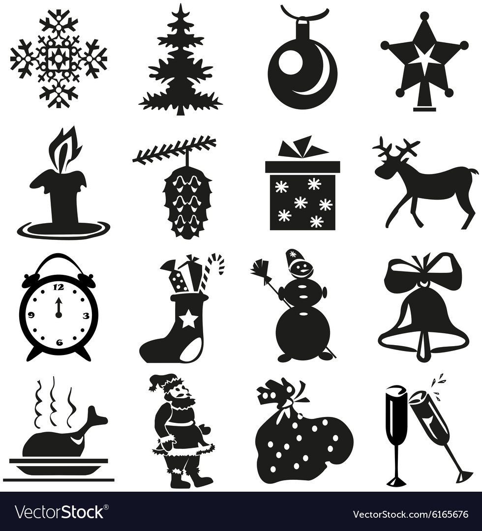 New years icons vector