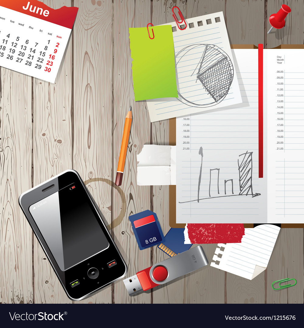 Office diary vector