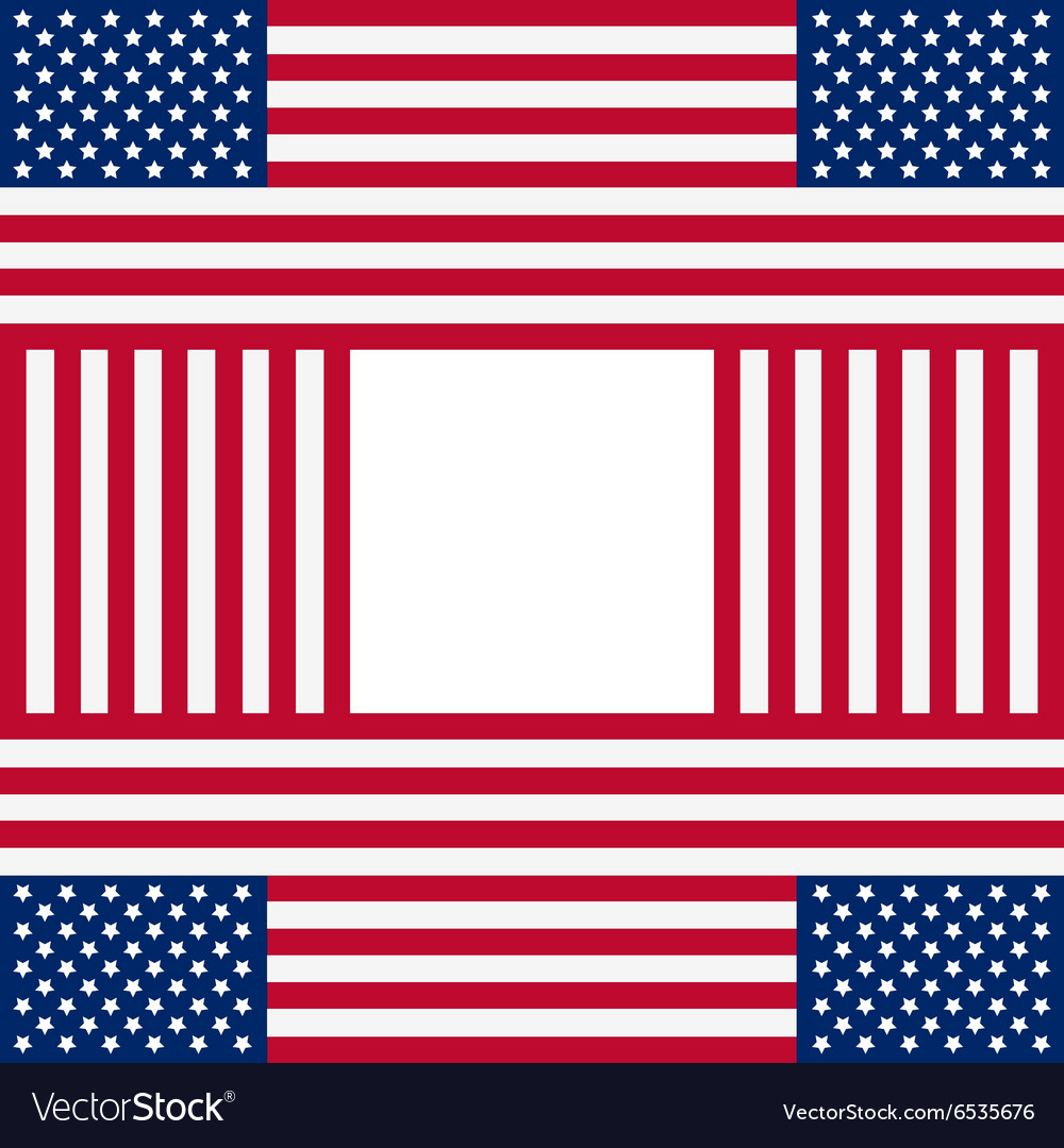 Patriotic usa background with american flags vector