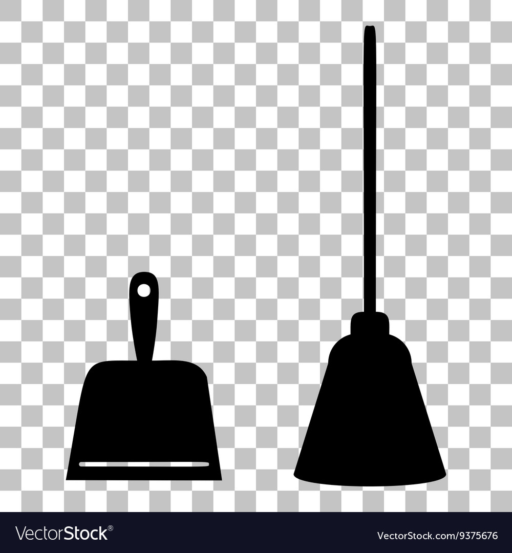 Scoop for cleaning garbage housework dustpan vector