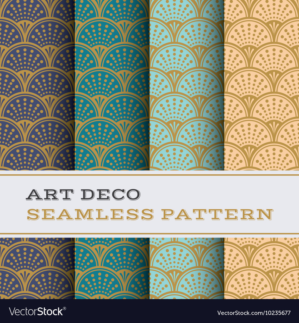 Art deco seamless pattern 09 vector