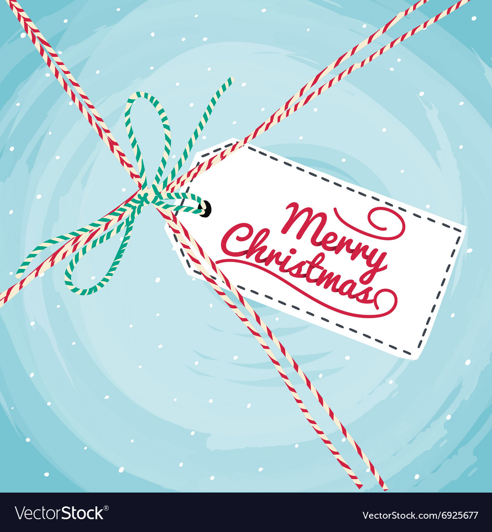 Christmas greeting card typography vector