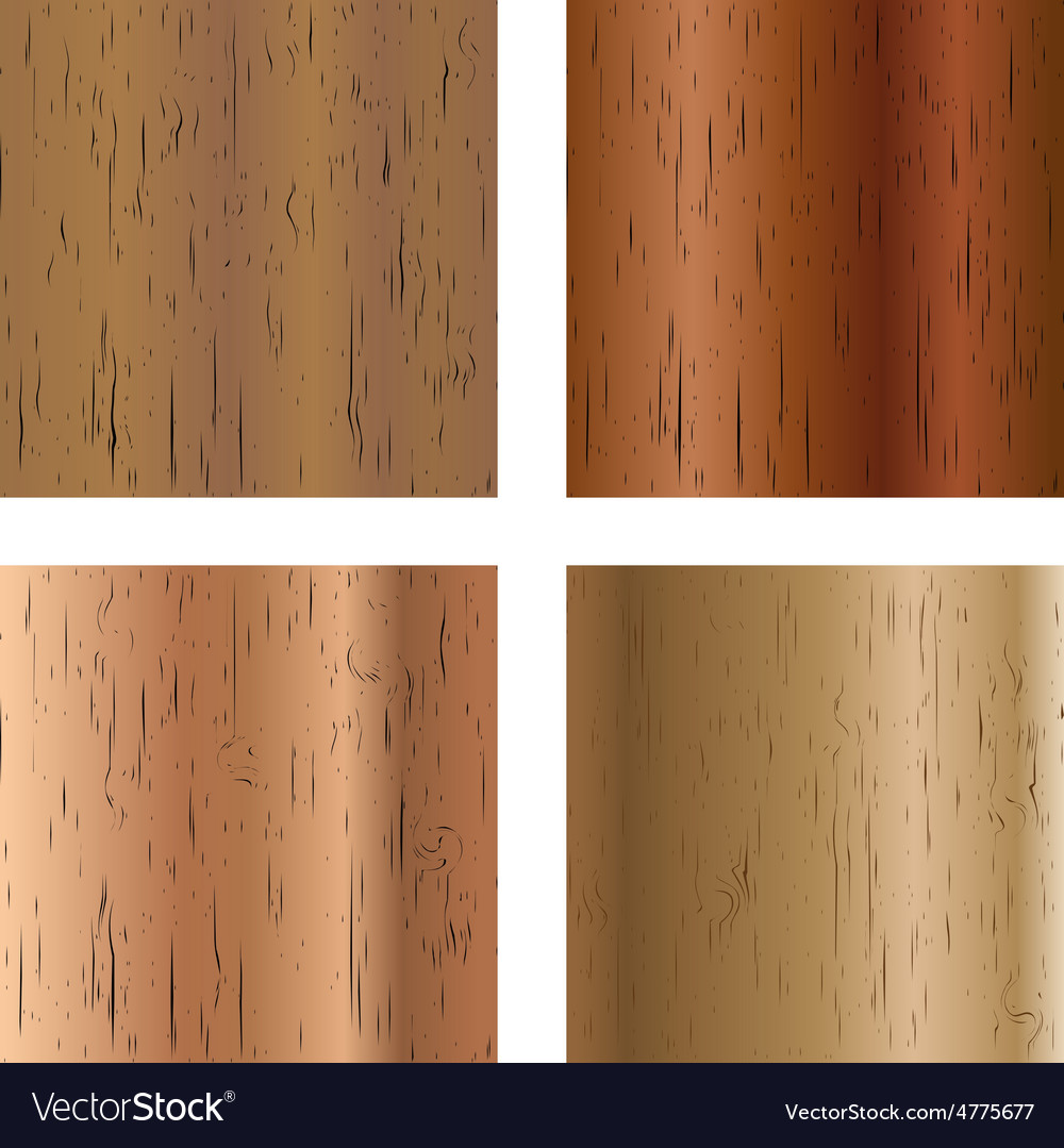 Set of wooden textures vector
