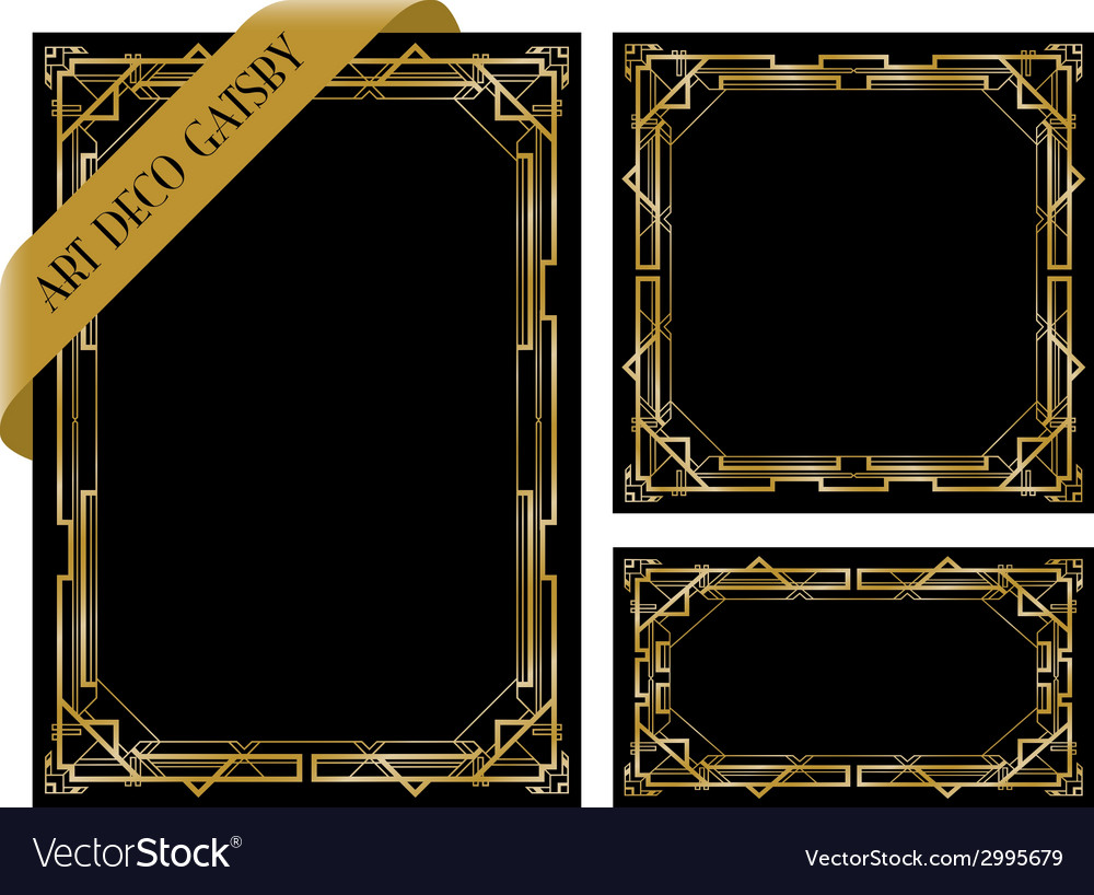 Art deco gatsby group vector